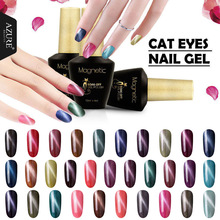Azure Newest Magnetic Color Gel Polish 3D Diamond Cat Eyes Nail Gel Polish Need Magnet Stick Gel Lacquer(China)