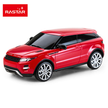 Licensed 4CH Rastar RC Cars Machines On The Radio Controlled 1:24 Scale Range Rover Evoque Remote Control Toys Boys Gifts 46909(China)
