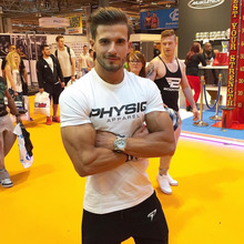 Buy PHYSIQ Brand Mens cotton t shirt gyms Fitness Bodybuilding Shirts Short Sleeve male summer fashion Casual Tees Tops clothing for $9.59 in AliExpress store