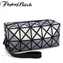 Brand multi-function travel cosmetic bag Flash Diamond Leather Makeup Make Up Wash Tool Organizer Storage bags dl9215/f