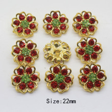 10Pcs 22mm Metal buttons Rhinestone button  For clothing Accessories weding handmade decorative buttons