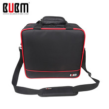 BUBM Large Capacity Carry Case Travel Organizer Bag For PS4 / PS4 Slim Games Console Gamepad Accessories Bag With Shoulder