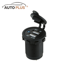 Micro Auto Motorcycle Dual USB Car Charger Power Adapter Socket Outlet waterproof Mobile Phone Charger Truck for ATV Boat