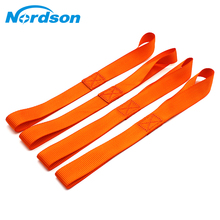4 X Orange Universal Soft Loops Car Motorcycle Towing Ropes Tie Down Straps Prevent Scratches Motocross Motorbike ATV Dirt Bike