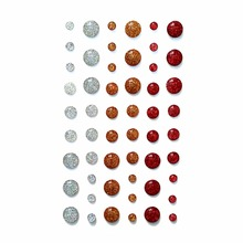 (5 pcs per lot) Gold Silver glitter enamel dots self adhesive resin stickers scrapbooking(China)