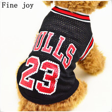 Fine joy 1pcs Pet Sport Clothes Spring Summer Coat Jacket Letter Print Basketball jersey Jackets For Teddy Puppy Bichon(China)