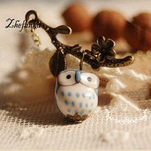 Buy Lovely Ceramic Twig Owl Necklaces & Pendants Women 2017 Handmade Vintage Jewelry Girl Accessories for $1.03 in AliExpress store