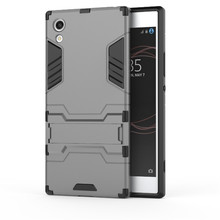 Buy Sony Xperia X XA XA1 XZ XZ1 Luxury Shockproof Hybrid Armor Back Cover Xperia E5 Rugged Impct Iron Man Stand Holder Case for $2.49 in AliExpress store