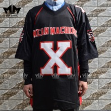 MM MASMIG The Longest Yard Bill Goldberg Joey Battle Battaglio X Mean Machine American Football Jersey Black S-3XL