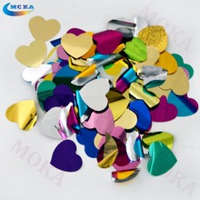 2kg/lot  mix color heart shape accessories for confetti machine cannon metallic foil paper wedding decoration for stage effect