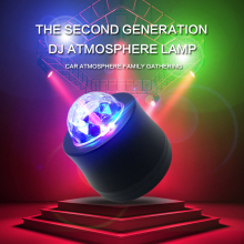 Car DJ Light LED Music MP3 Club Party Mini RGB 18W Crystal Stage Rotating Bulb With USB Interface