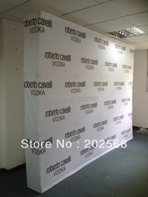 Free Shipping!!! Fabric Pop up Stand, Fabric Backdrop Banner wall W/Graphic Printing(China)