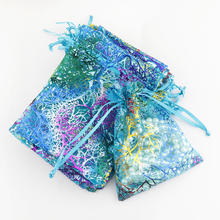 9x12cm Organza Bags Blue Coralline Custom Jewelry Tea Packaging Bags Organza Wedding Gift Bags Saquinho De Organza 500pcs/lot(China)