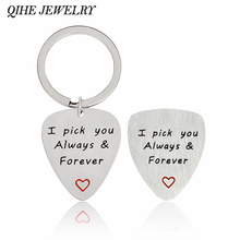 3 style I pick you always&forever;I'd pick you everytime;I couldn't pick a better dad Guitar Pick & Keychain Gift for Dad(China)