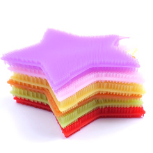 1 PC Soft Silicone Sponge Scrubber Kitchen Tool Fruit Dish Washing Household Cleaning(China)