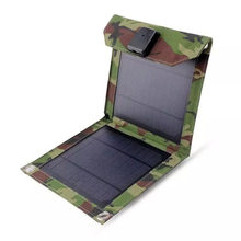 5W 1000mA camouflage folding solar charger bag solar cell phone charger solar panels(China)