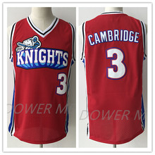Like Mike Movie Knights #3 Calvin Cambridge Red Embroidery Stitching Mesh Basketball Jersey