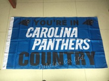 You're In Carolina Panthers country Flag 3ft x 5ft Polyester NFL Carolina Panthers Banner Flying Size No.4 144* 96cm Custom flag(China)