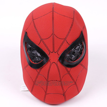 High Quality Spiderman Cosplay Mask Figure Toy Latex Full Face Mask Adult Spider Man Party Props Costume Rubber Masks 29cm(China)
