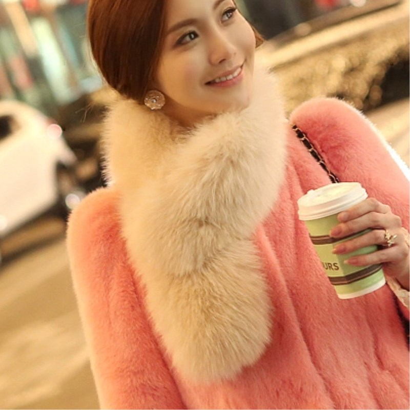 2018 Fashion Fur Scarf, Fur Collar Fox Fur Collar Really Long Winter Female Fox Fur Scarf