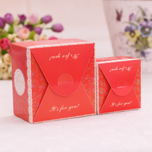 Cube Flower Printed European Candy Box Bridal Wedding casamento Candy Packaging Box Creative Sweets Candy Boxes 50pcs/lot