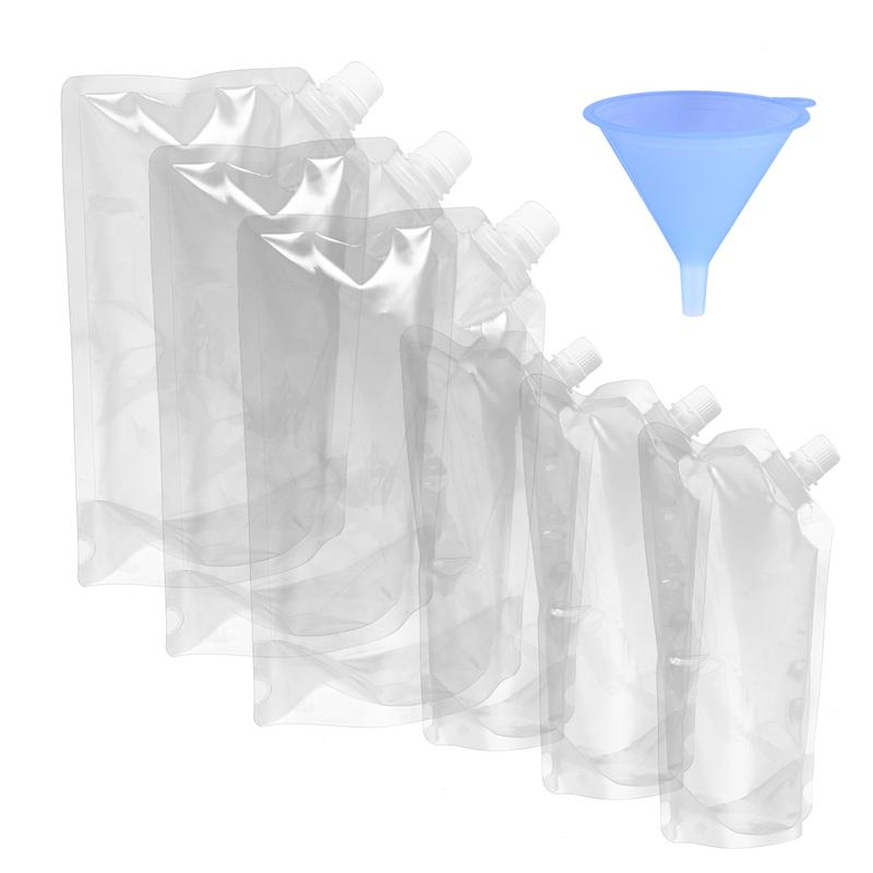 3PCS Flexible Collapsible Foldable Reusable Water Bottles Ice Bag 3 Colors