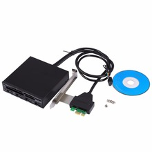 3.5inch PCI Express to USB 3.0 Internal Combo Front Panel 4 Port Hub+All in 1 Internal 3.0 Card Reader Adaptor