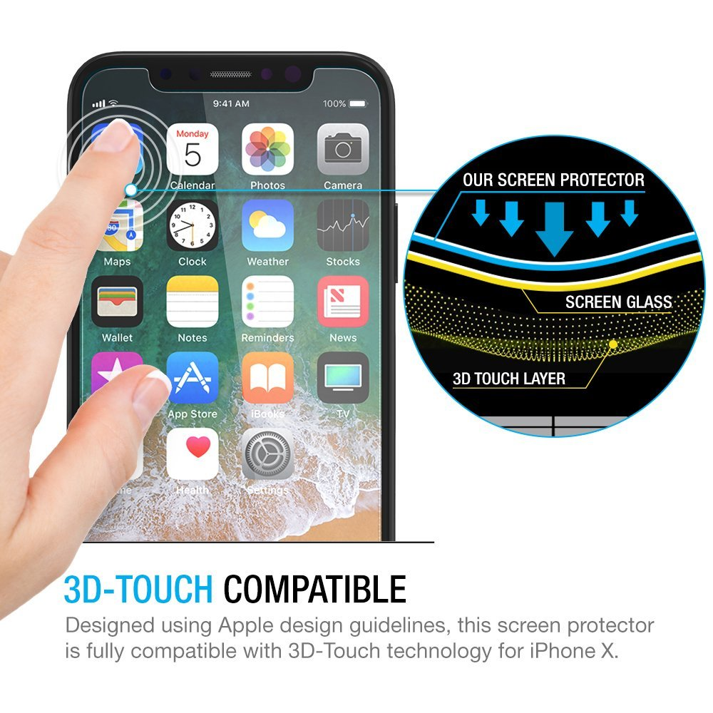 NYFundas For iPhone X Screen Protector Tempered Glass Pelicula de vidro for iPhone 10 8 Plus 7 6 6S 5 5S SE 5SE Film Protection (4)
