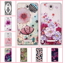 3D Silicone Case for Lenovo A5000 Phone Cases Soft Back Cover For fundas Lenovo A5000 Mobile Phone Case Paint Flower A5000 Shell