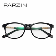 PARZIN Trendy Women Optical Myopia Frames With Clear Lens Brand Art Leg Correction Glasses Frame With Logo Quality Accessories(China)