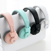Candy Color Wireless Headphones Stereo Sound Mega Bass Bluetooth Headset 3.5mm Cable for iPhone ipad Samsung Xiaomi Tablet(China)