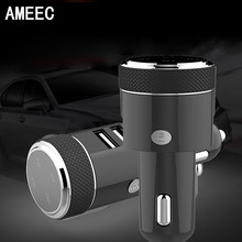 AMEEC 5V 3.1A Quick Charge Bluetooth GPS Mobile Phones Car Charger For Car Hand Free Calling MP3 2 USB HUB Port Charge(China)