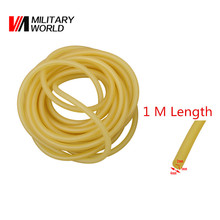2mm x 4mm Outdoor Sport Shooting Natural Latex Slingshots Rubber Tube 1m  Length Tubing Band For Slingshot Tactical Hunting Tool