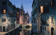 Building Eugene lushpin painting lushpin city Venice Italy canal gondola 4 Sizes Home Decor Canvas Poster Print(China)