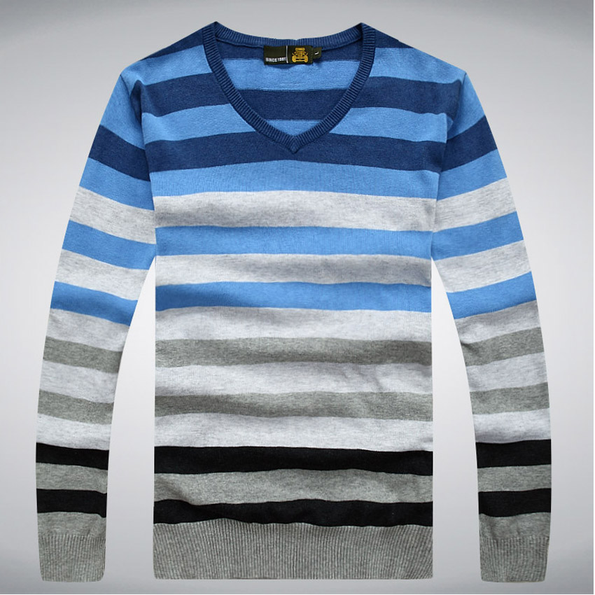 2016 man fake designer brand clothes mens jumper v neck male sweaters polo pullover(China (Mainland))