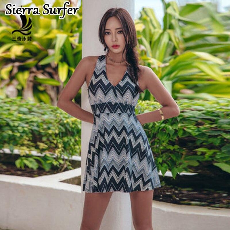 Swimsuit Sport One Piece Women Maios Womens For Beach Female Swimwear Plus Size 2018 Bigger Sizes Skirt Korean Sexy Swim Animal<br>