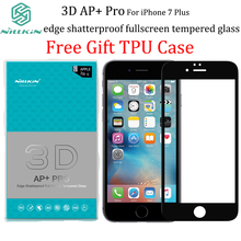For iPhone 7 Plus NILLKIN AP+PRO 3D 0.23MM Full coverage Anti-explosion Tempered Glass For iPhone 7Plus Gift Tpu case