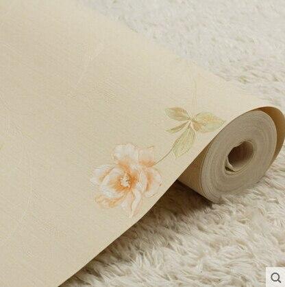 Pastoral Floral Background Wallpaper 3D Embossed PVC Retro Rustic Wallpaper Roll Plain bedroom wallpaper For Walls<br>
