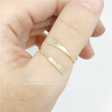 PINJEAS New Bypass Thumb Ring Handmade  Rose  Filling Ring Modern Simple Minimalist Jewelry for women Christmas gift