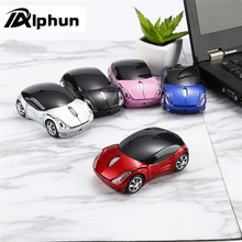 Alphun 1600 DPI 2.4G Mini Wireless Mouse Car Shaped Mause USB Optical Mice for PC Laptop Computer Home Office USE