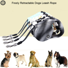[TKM] 5M Pets Dog Retractable Leash Rope Dog Leash Rope Pet Dog Nylon Training Leads Rope for Fastness and Wear-resisting CL137(China)