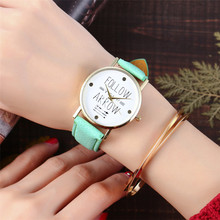Vansvar Brand Fashion Women Watches Casual Follow Your Arrow Watch Women Dress Leather Bracelet Wrist Watch Montre Femme 2121