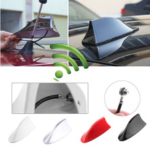 1 Pcs Universal Auto Car Shark Fin Roof car antenna shark FM/AM Decorate Aerial For Polo Ford AM/FM Signal Amplifier(China)