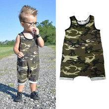 0-3Y Camouflage Baby Boy Kid Newborn Romper Jumpsuit Bodysuit Cool Soldier Summer Vest Clothes Military Army Uniform Outfit