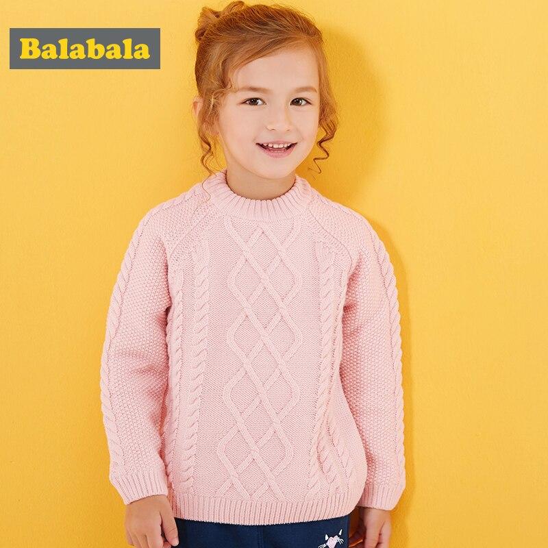 2017 Balabala Boys Girls Round Collar Solid Baby Kids Sweaters Soft Warm Thicken Sueter Infantil Autumn Winter Childrens Coats<br>