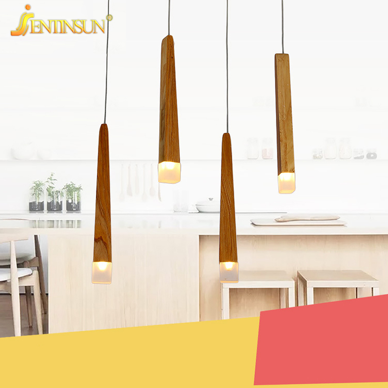 Novelty Lamp Match Stick Solid Wood Pendant Light Modern Simple Restaurant Hanging Lamp for Cafe Living Room Wooden Home Fixture<br>