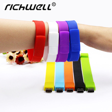 Colorful Fashion fast speed Silicone Bracelet 8GB 16GB 32GB 64GB USB 2.0 Flash Memory Stick pen drive Wristband usb flash drive(China)