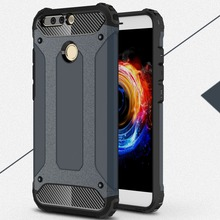 [Long Steven]For Huawei V9 Case Unique Armor Anti-Knock Bumper Attached Dust Cap Cover For Huawei Honor V9 Case Honor V 9 Funda