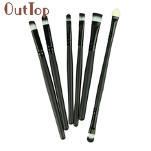 Graceful  6pcs Make Up Tool Eye Brush Eyeshadow Eyeliner Nose Smoky Eyebrow Comestic Set OCT17