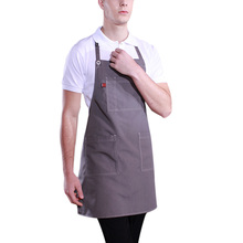 Sleeveless Cleaning Apron Kitchen Cooking Apron Men Women Waiter Aprons with Pockets Household Cleaning Accessories